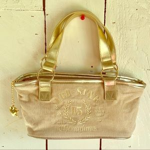 L.E.I. Corduroy Purse with Gold Accents